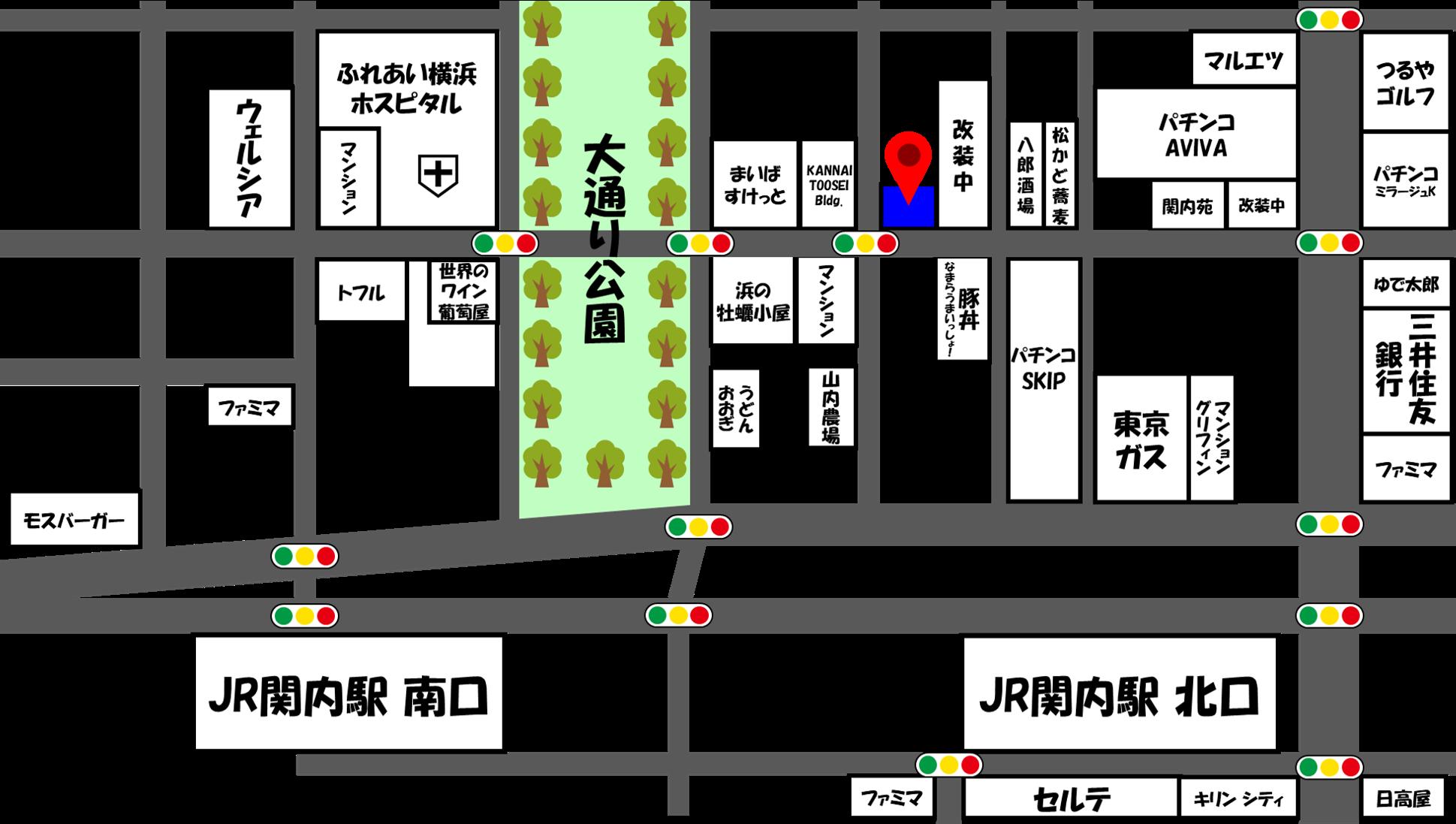 レジェンド横浜ジム  アクセスマップ