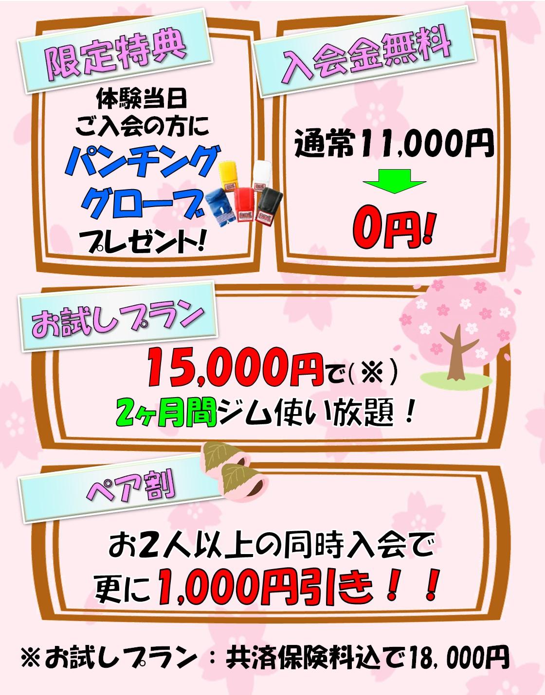 レジェンド横浜ジム キャンペーン情報
